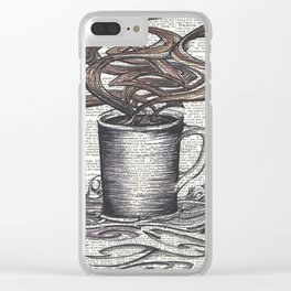 Waves of Roasted Goodness Clear iPhone Case