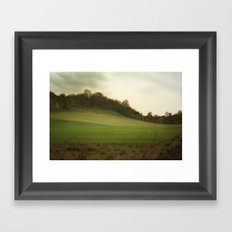 green meadows Framed Art Print