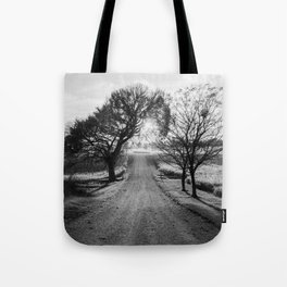 Best Farm Tree Backlit In The Fall Tote Bag
