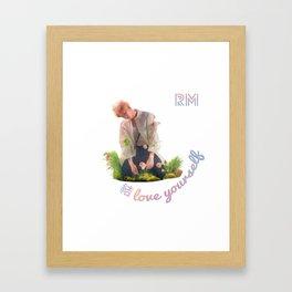 BTS Love Yourself Answer Design - RM Framed Art Print