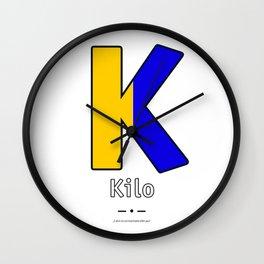 Kilo - K - Navy Alphabet Wall Clock