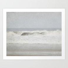Crashing Grey Waves Art Print