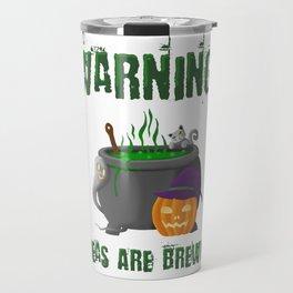 Warning! Ideas are brewing. Travel Mug