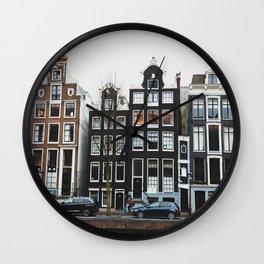 Amsterdam Houses Wall Clock