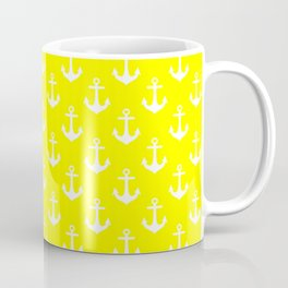 Anchors (White & Yellow Pattern) Coffee Mug