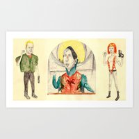 fifth element Art Prints featuring ~The Fifth Element~ by withapencilinhand