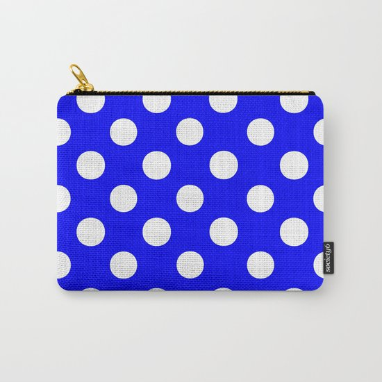 Polka Dots (White/Blue) Carry-All Pouch