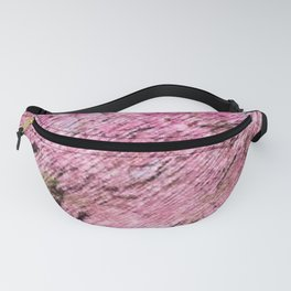 Cherry blossoms on an old New England back road landscape painting by Jéanpaul Ferro Fanny Pack