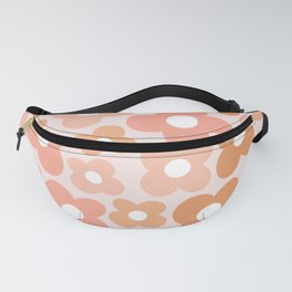 Peachy Pink Flower Power Fanny Pack