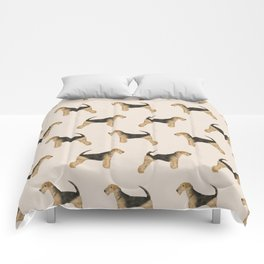 Airedale Terrier pattern dog breed cute custom dog pattern gifts for dog lovers Comforters