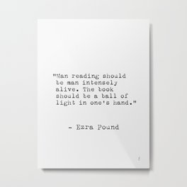 Ezra Pound Metal Print