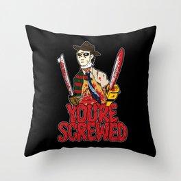 Slasher Mash (SFW) Throw Pillow