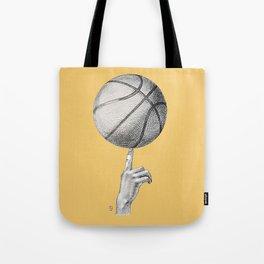 Basketball spin orange Tote Bag