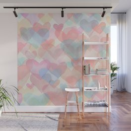 Floating Hearts Wall Mural