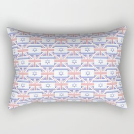 Mix of flag : Israel and uk 2 with color gradient Rectangular Pillow