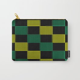 Green Checkerboard  Carry-All Pouch
