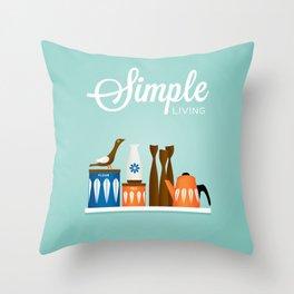 Simple Living, Kitchen Shelf Throw Pillow