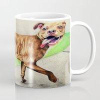 pitbull Mugs featuring pitbull by Shannon Gordy