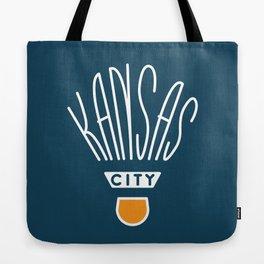 Kansas City Shuttlecock Type - White Tote Bag