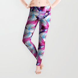 Rainbow Down Abstract Watercolor Painting Leggings