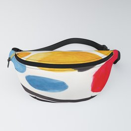 Mid Century Modern Abstract Juvenile childrens Fun Art Primary Colors Watercolor Minimalist Pop Art Fanny Pack