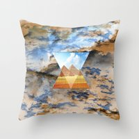 egypt Throw Pillows featuring EGYPT by sametsevincer