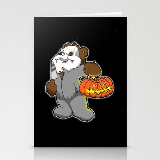 Halloween bear Stationery Cards