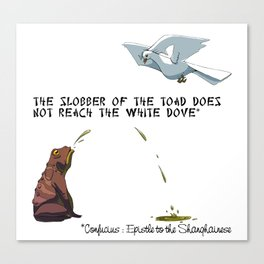 Confucius, the Toad and the Dove Canvas Print
