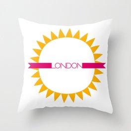 London 3 Throw Pillow
