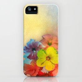 Colorful Hibiscus Bouquet iPhone Case