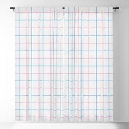 Grid Color Combination Blue Pink Blackout Curtain