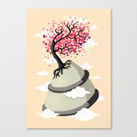 cherry blossom Canvas Prints featuring Cherry Blossom by Freeminds
