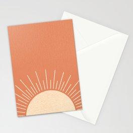 Sunrise pink Stationery Cards