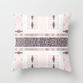 Silver Antique Details over Marble Design Throw Pillow
