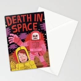 Death In Space B-movie Stationery Cards