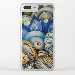 Majestic Coral Clear iPhone Case