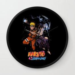 Duel Naruto Sasuke Wall Clock
