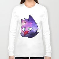 gengar Long Sleeve T-shirts featuring Galaxy Gengar. OC. by xowhiterabbitox