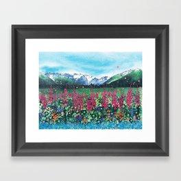 Girdwood Valley Framed Art Print