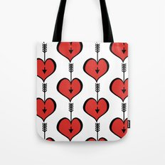 Loving You red hearts Tote Bag