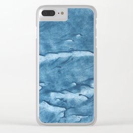 Electric blue Clear iPhone Case