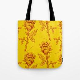 Yellow Roses pattern Tote Bag