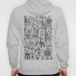 ZODIAC CANVAS CALLIGRAPHY Hoody