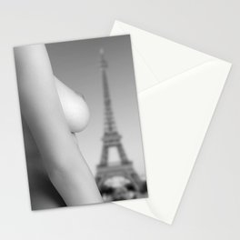 Nude in Paris Stationery Cards