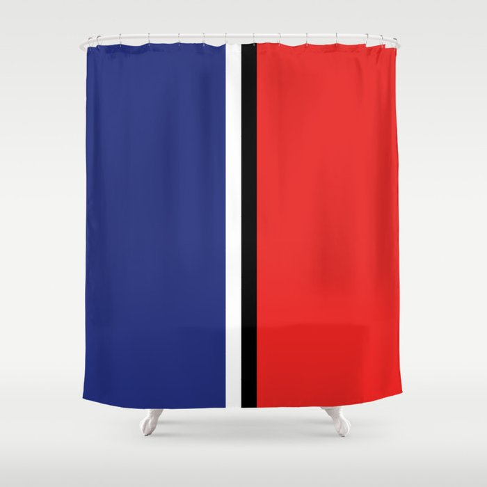 Two Color And Blackwhite Royal Blue Red Shower Curtain