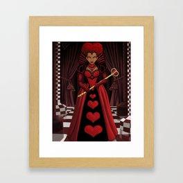 Ebony Queen of Hearts  Framed Art Print