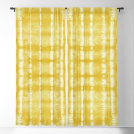 Yellow Itajime Shibori Blackout Curtain