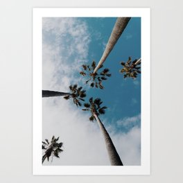 Palm Tree Summer Fun Art Print