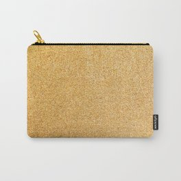 Gold Glitter Texture Carry-All Pouch
