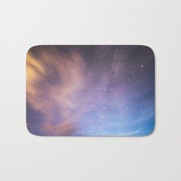 Pink Blue Glitter Galaxy Bath Mat